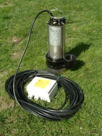 Schmutzwasserpumpe max. 450l/min max. 18,5m Förderhöhe