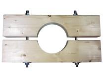 Holzzange die Große für KG 200 Rohr AD=200mm