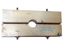 Holzzange die Große für DN 80 Brunnenrohr AD=88mm