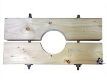 Holzzange die Große für DN 150 Brunnenrohr AD=165mm