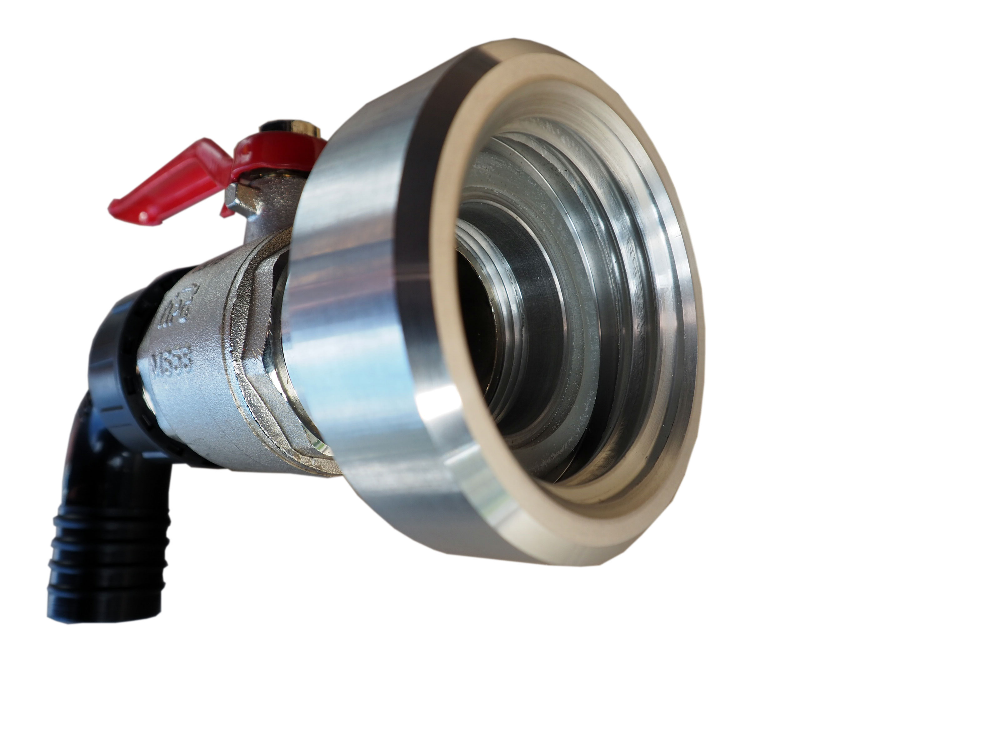 IBC Auslaufhahn komplett - Aluminium Reduzierung