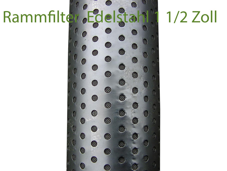 Rammfilter mit Edelstalhmantel 1 1/2 Zoll