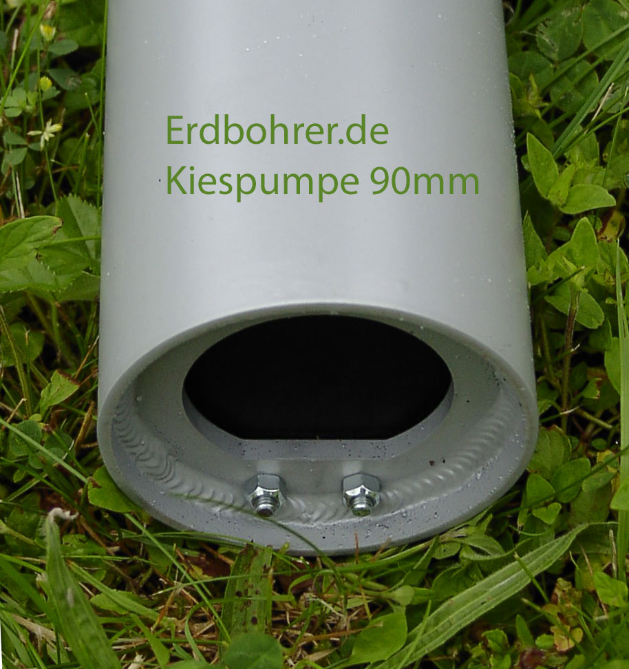 Keller Kiespumpe 90mm - kurzer Kiesplunscher