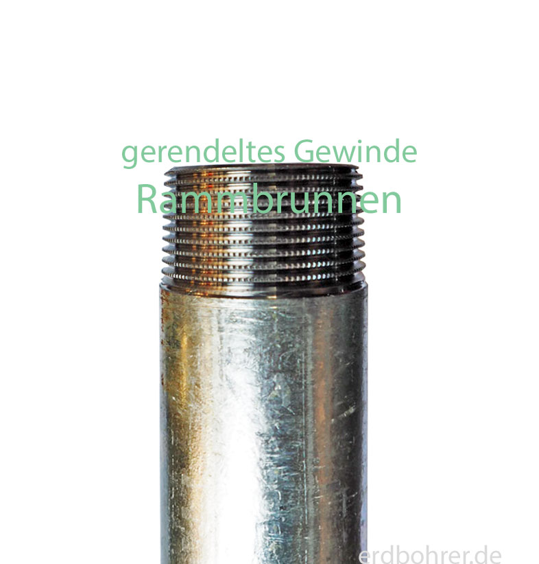 0,5m Verlängerungsrohr 1 1/4 Zoll für Schlagbrunnen u Rammbrunnen Starkwandrohr