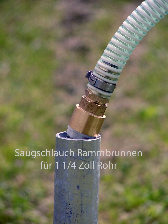 Saugschlauch Set 3/4 Zoll 7 tlg. für Rammbrunnen 8m Gesamtlänge