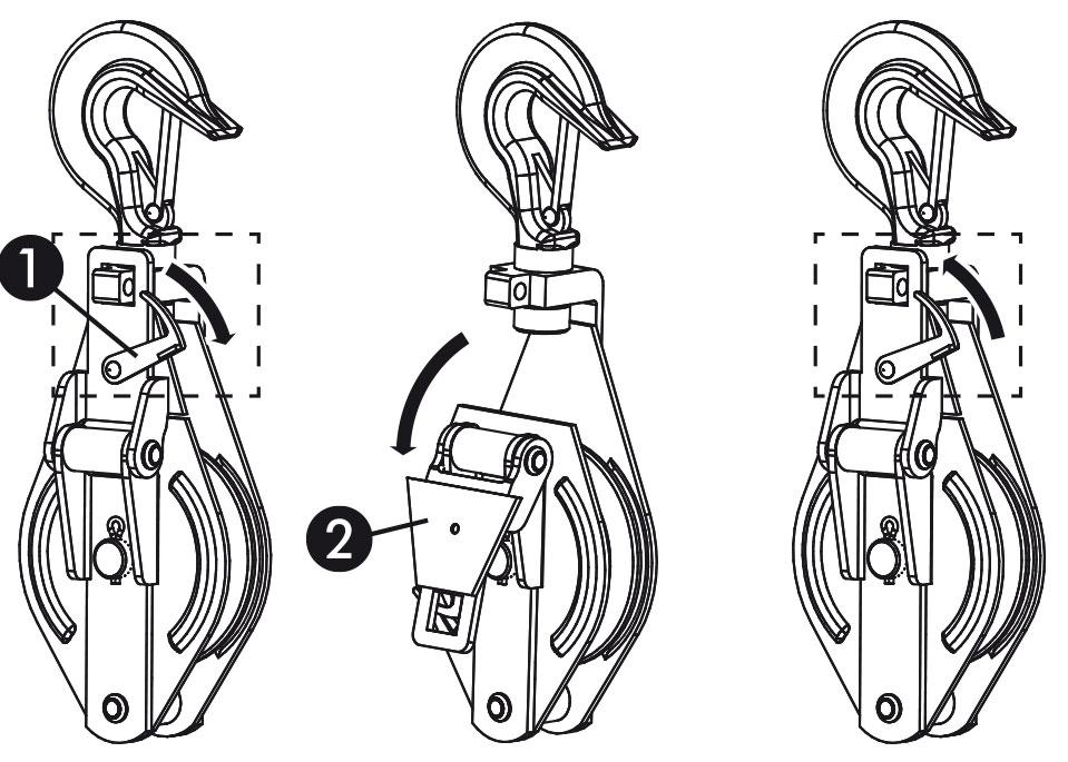 Umlenkrolle für Kiespumpe und Plunscher 1t Seilrolle für Dreibock