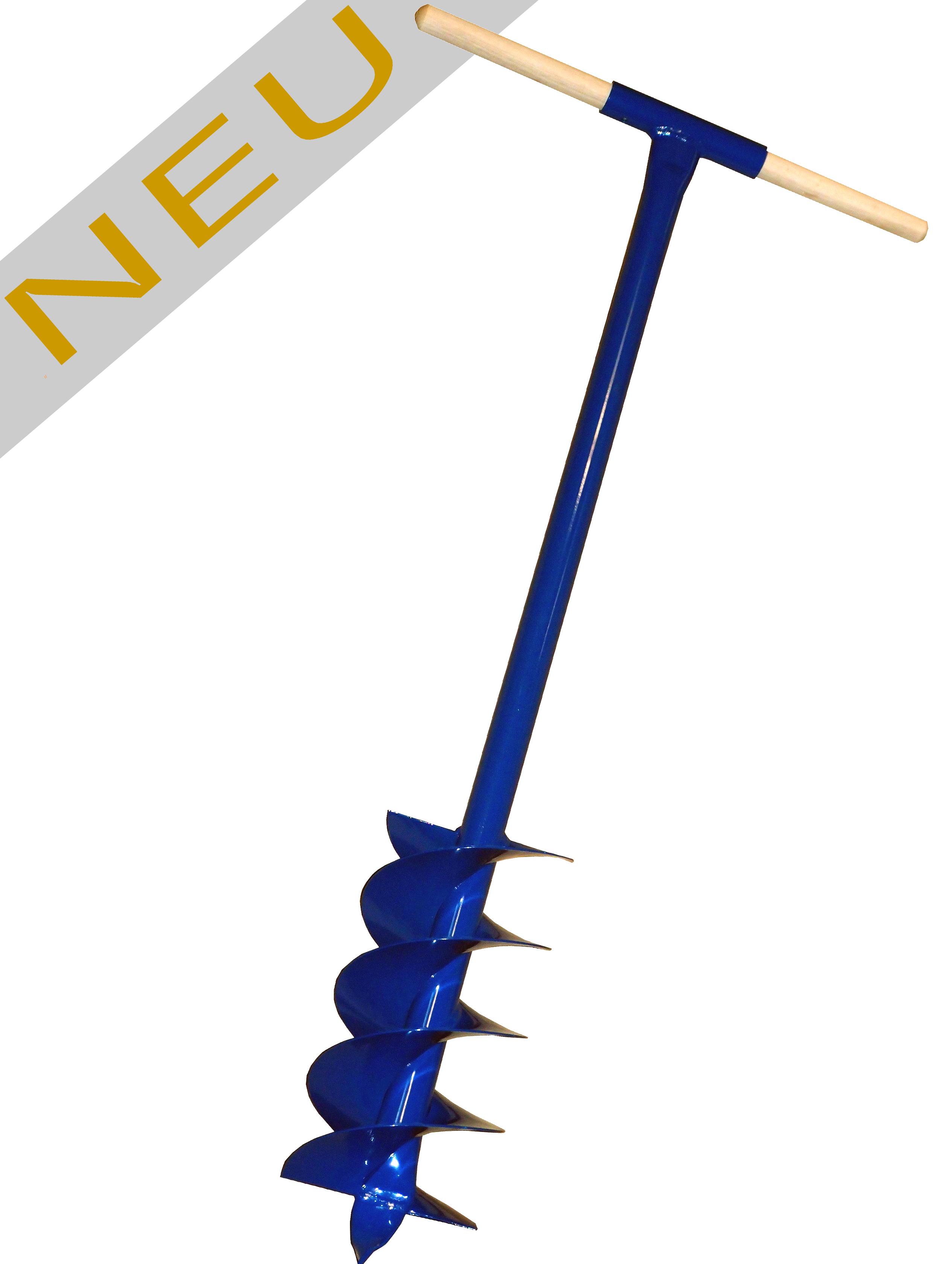 Erdbohrer 175mm 17,5 cm pulverbeschichtet blau