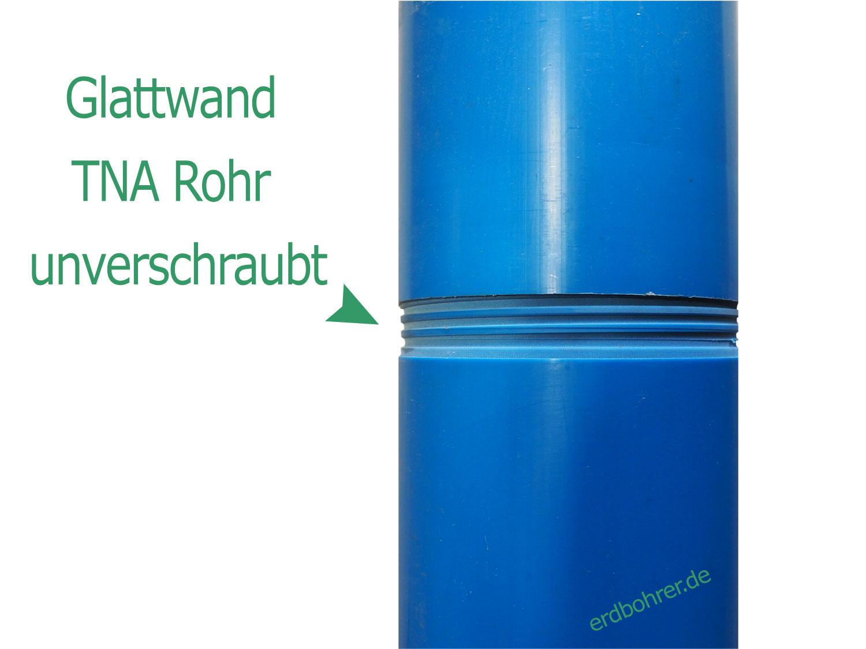 Glattwand Brunnenrohr DN 100 4 Baulänge 1m TNA Gewinde