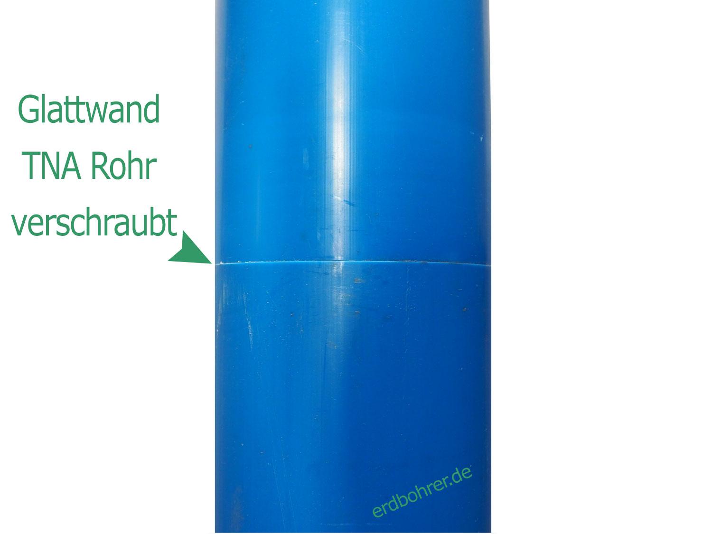 Glattwand Brunnenrohr DN125 - 5 Baulänge 1m TNA Gewinde