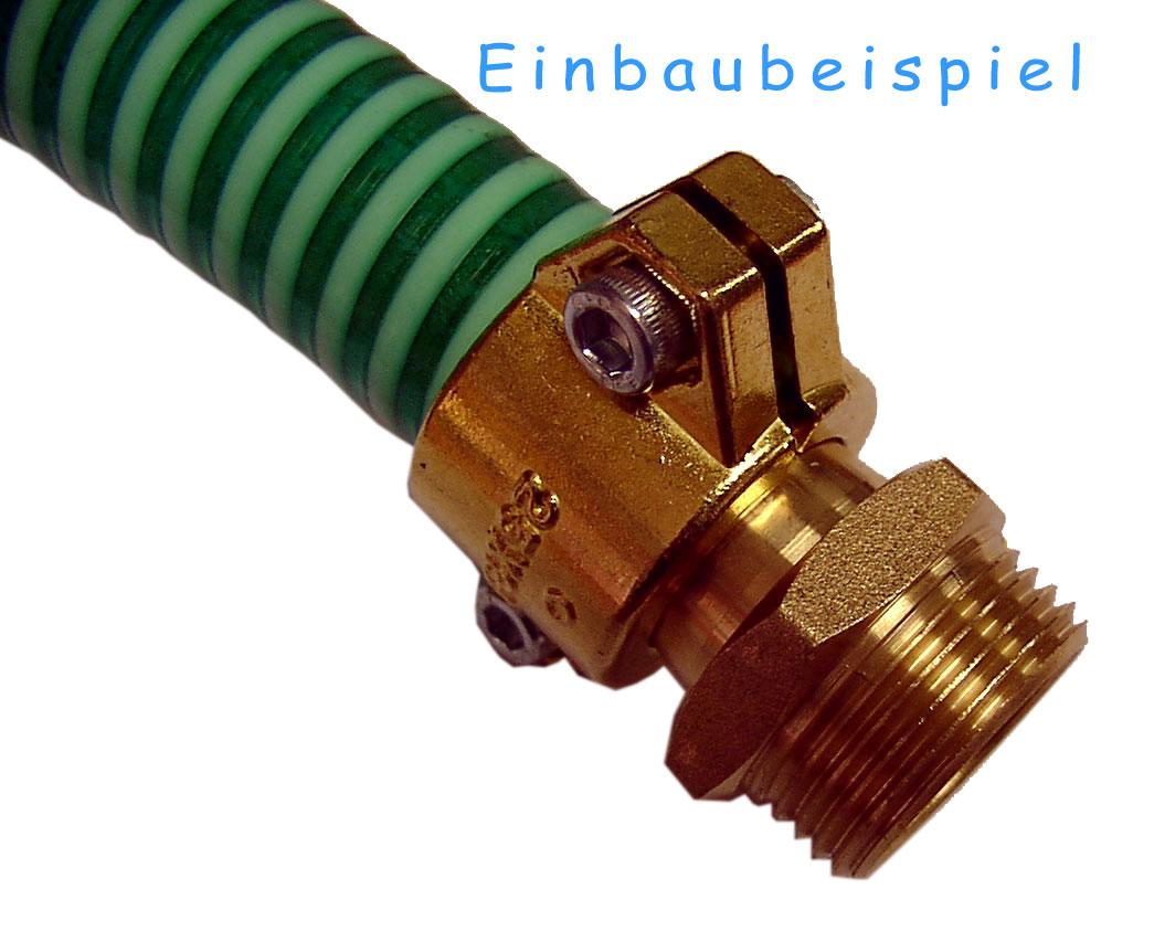 Klemmschale Saugschlauch 25x3.5 - 1 Zoll