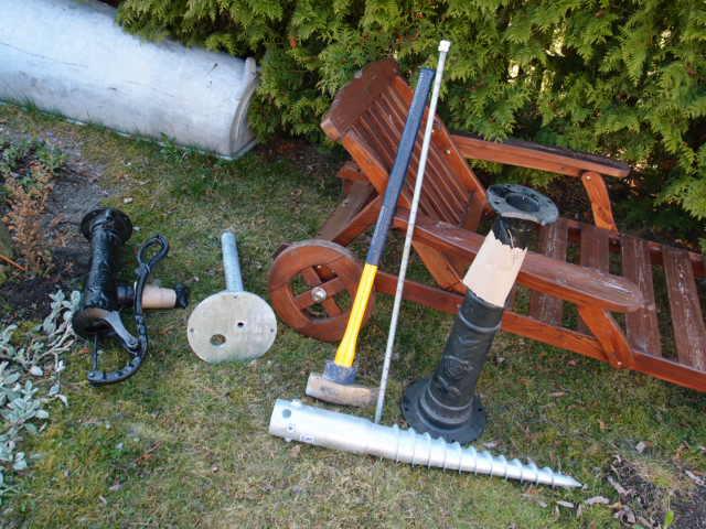 Schraubfundament für Schwengelpumpe G4 76x800
