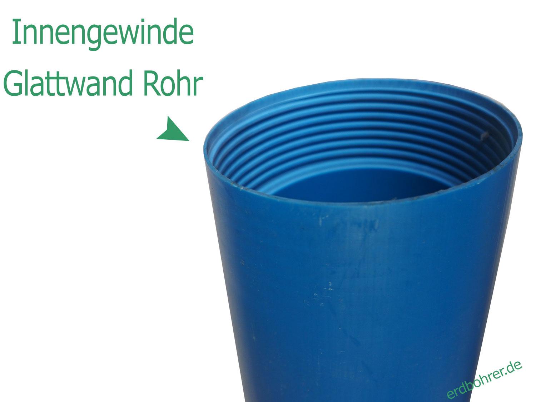 Glattwand Brunnenfilter DN115 - 4 1/2 Baulänge 1m TNA Gewinde