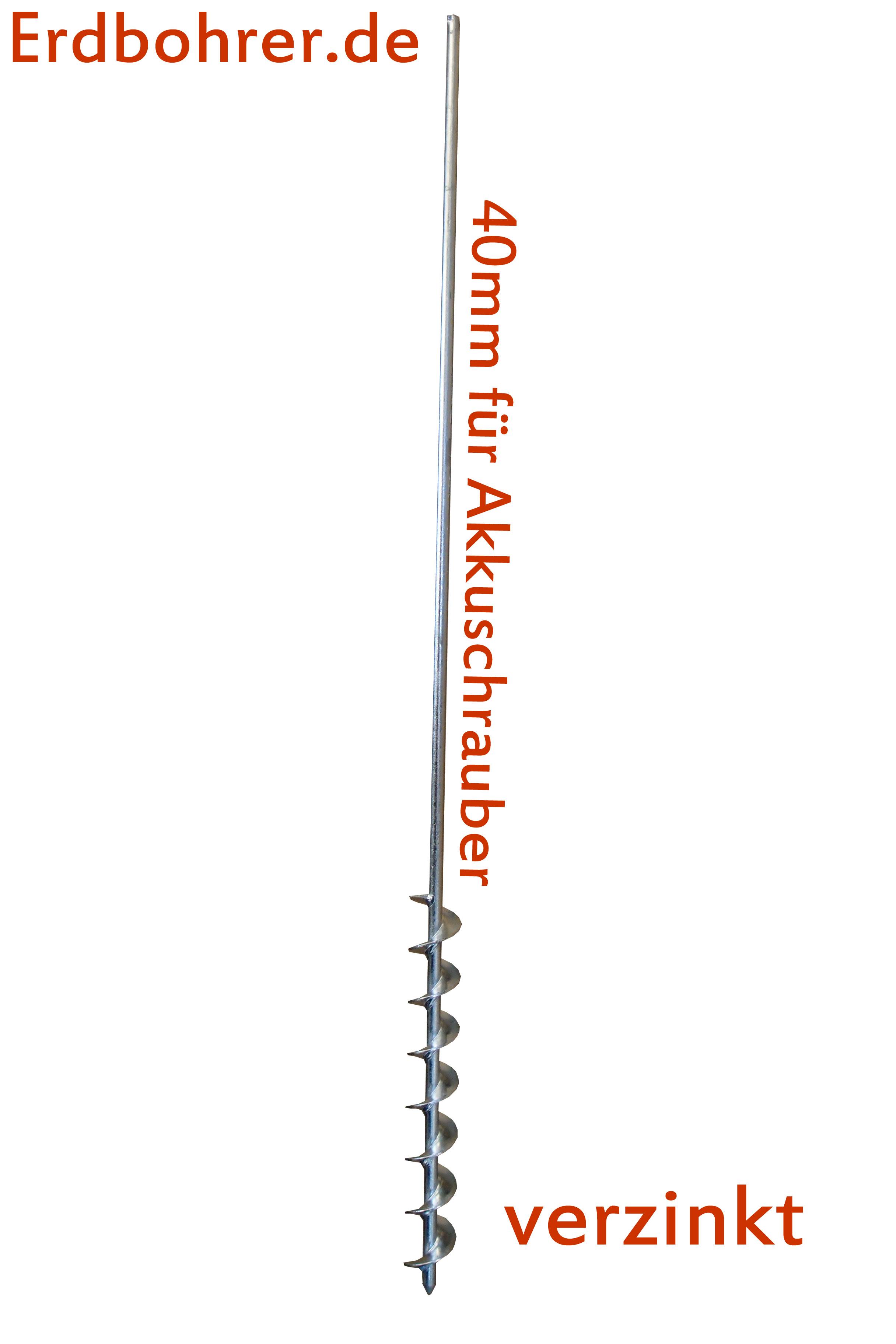 Erdbohrer 40 mm 4 cm - 1m für Akkuschrauber