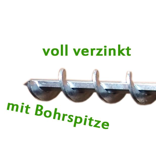 Erdbohrer 40 mm 4 cm - 1m für Akkuschrauber oder Bohrmaschine