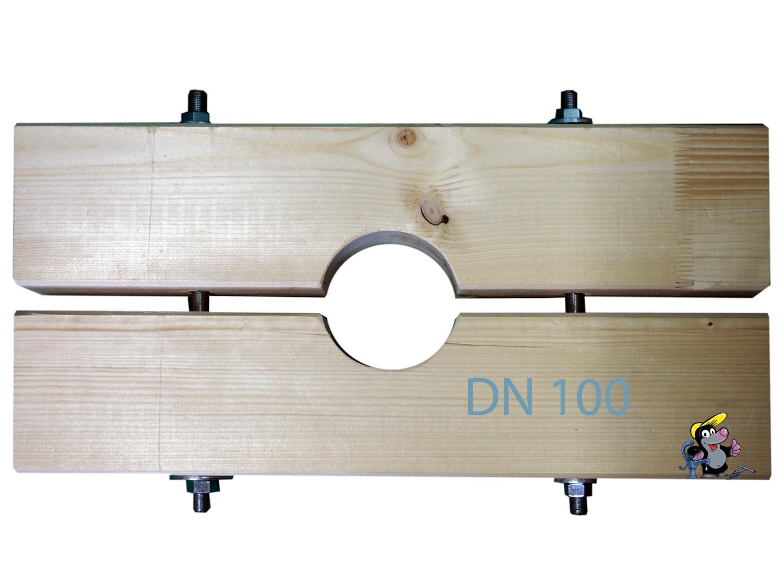 Holzzange die Große für DN 100 Brunnenrohr AD=113mm