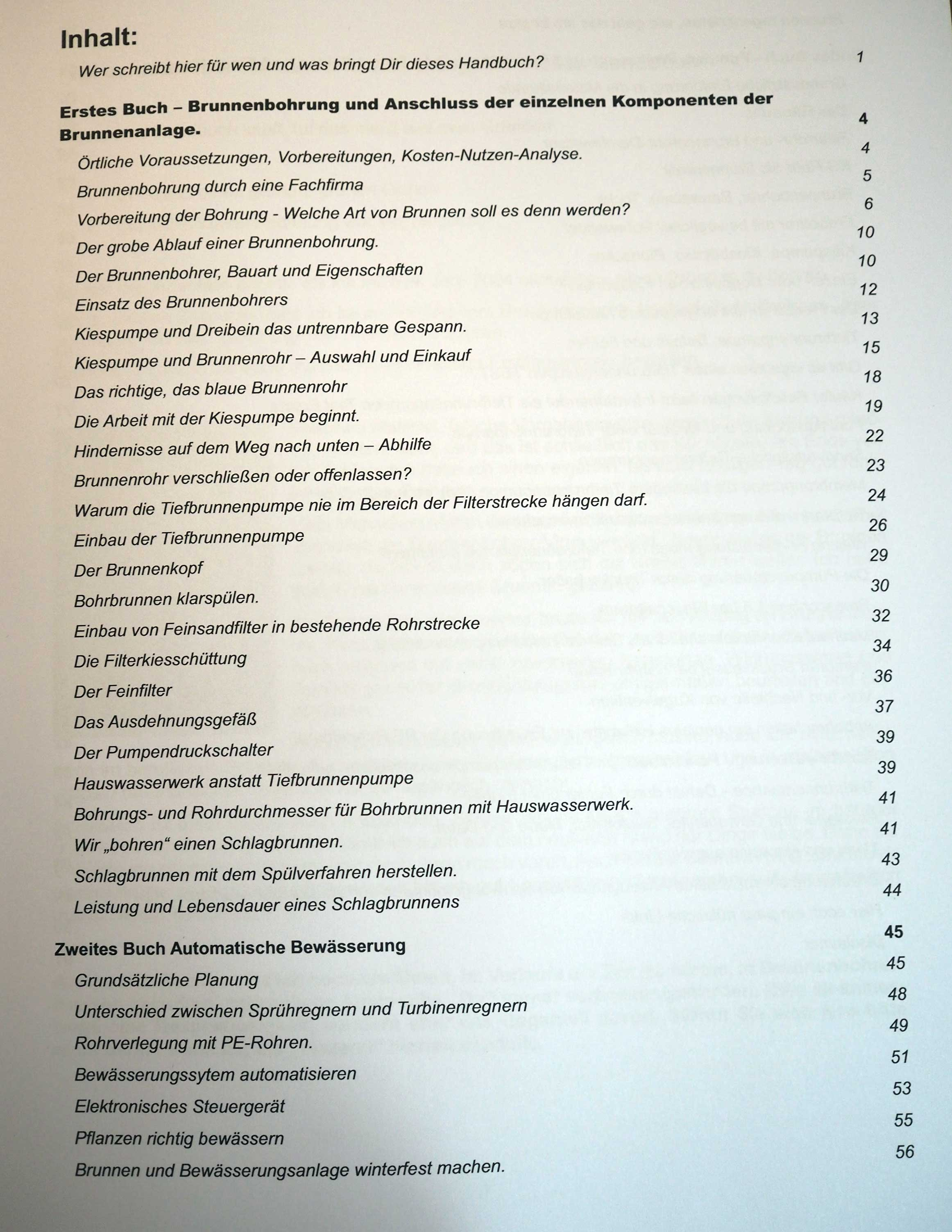 Brunnen selber bohren Handbuch von Albrecht Trunk - Brunnenbauanleitung Buch