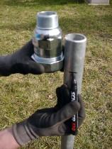 Klemmverbinder für Rammbrunnen 1 1/2 Zoll Stahlrohr auf 1 1/2 Außengewinde GEBO