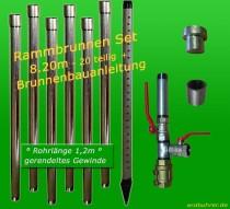 Brunnenbau-Set 7m 20 tlg Rammbrunnen 1-1/4 Zoll