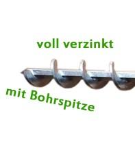 Erdbohrer 30 mm 3 cm - 1m für Akkuschrauber