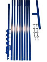 Brunnenbau Erdbohrer Set 9m 130mm