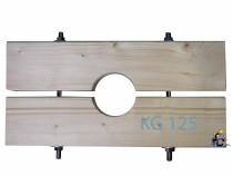 Holzzange die Große für KG 125 Rohr AD=125mm