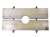 Holzzange die Große für KG 100 Rohr AD=110mm