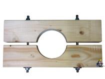 Holzzange die Große für DN 175 Brunnenrohr AD=195mm